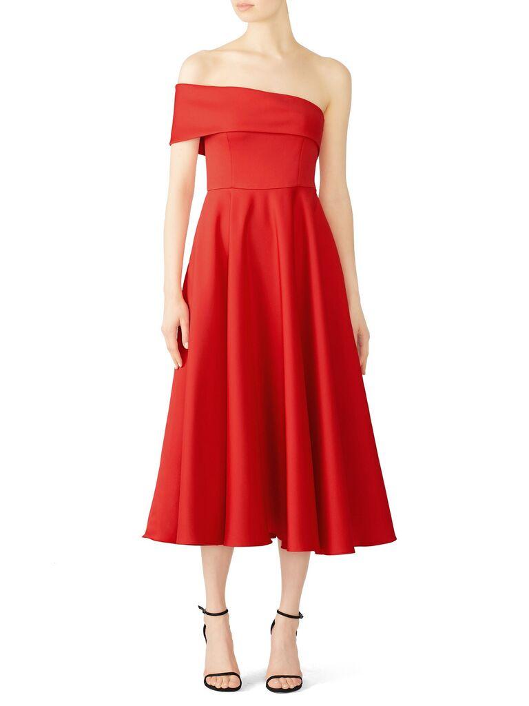 Red dress for formal wedding