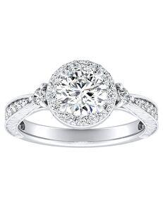 DiamondWish.com Vintage Princess, Asscher, Cushion, Emerald, Marquise, Pear, Radiant, Round, Oval Cut Engagement Ring