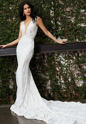Jovani Bridal JB03871 Sheath Wedding Dress