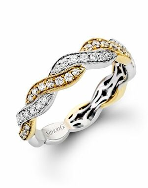 Simon G. Jewelry MR2007 White Gold Wedding Ring