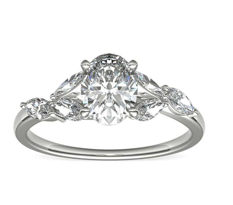 Oval Engagement Ring monique lhuillier