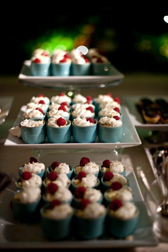 The dessert station had fresh berries and cream, a coconut tres leches cake, a chocolate mousse tart and chocolate covered crème puffs.