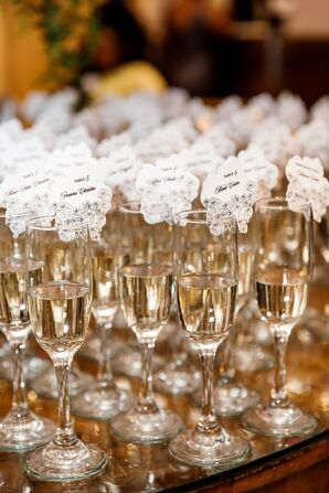 Champagne Escort Cards at The Palace at Somerset in Somerset, New Jersey