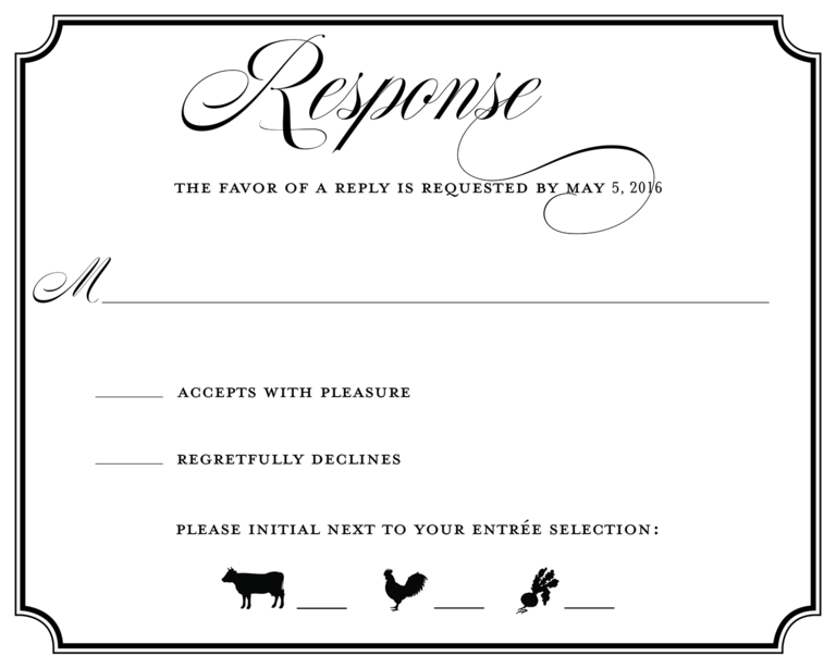 Rsvp reply example