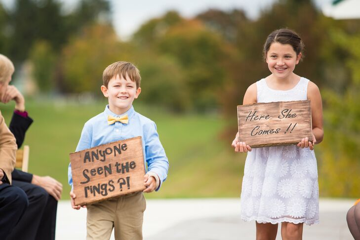 Ring Bearer and Flower Girl Signs