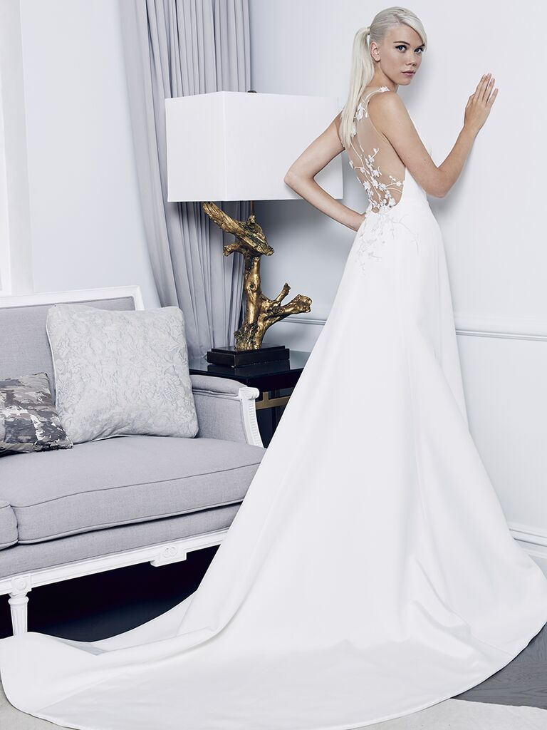 Romona Keveza Collection Fall 2018 wedding dress with an embroidered lace back
