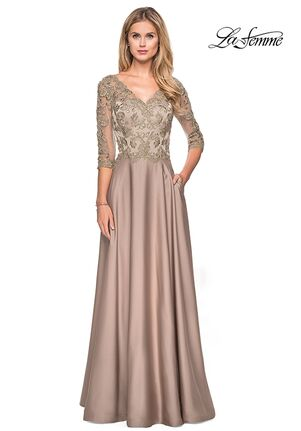 La Femme Evening 27235 Brown Mother Of The Bride Dress