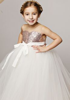 FATTIEPIE rose gold Flower Girl Dress
