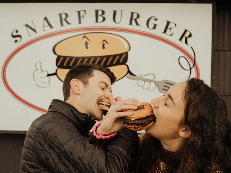 A Hilarious Burger-Centric Engagement Session
