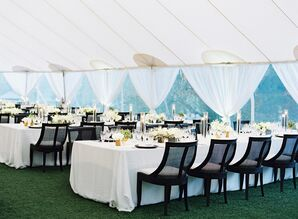 Formal Reception Tent  for Napa Valley Wedding