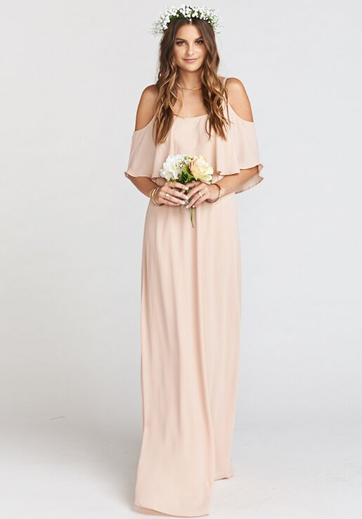 016bc17f5f6c3 Show Me Your Mumu Caitlin Ruffle Maxi Dress - Dusty Blush Crisp Scoop  Bridesmaid Dress