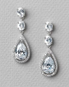 USABride Tara CZ Earrings (JE-1189) Wedding Earring photo