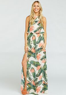 ad0d7e8ce Show Me Your Mumu Heather Halter Dress - Paradise Found Halter Bridesmaid  Dress