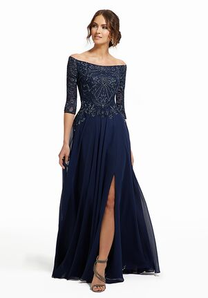 MGNY 72017 Blue Mother Of The Bride Dress