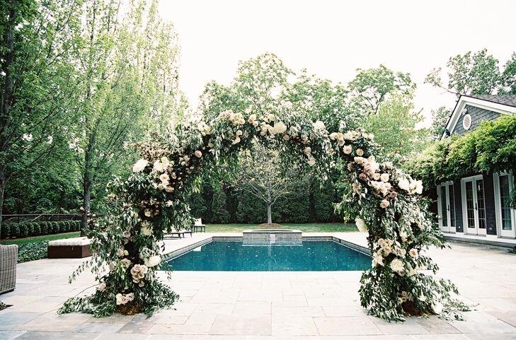 Romantic, Garden-Inspired Rose and Vine Wedding Arch