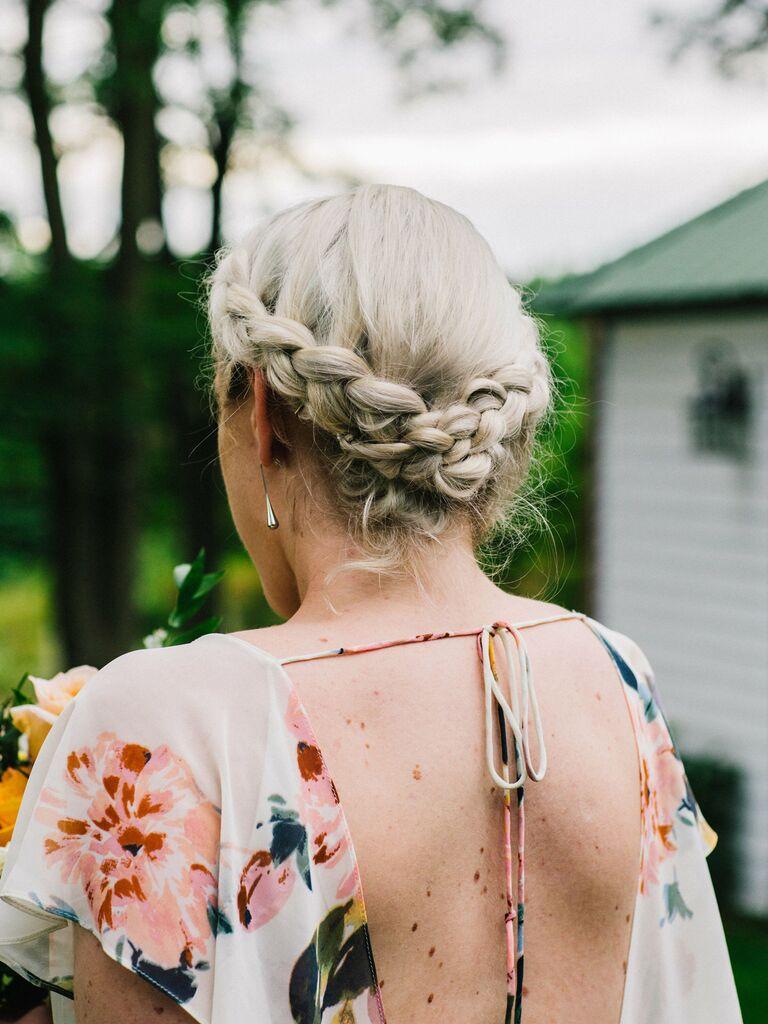 wedding braid hairstyles braid crown