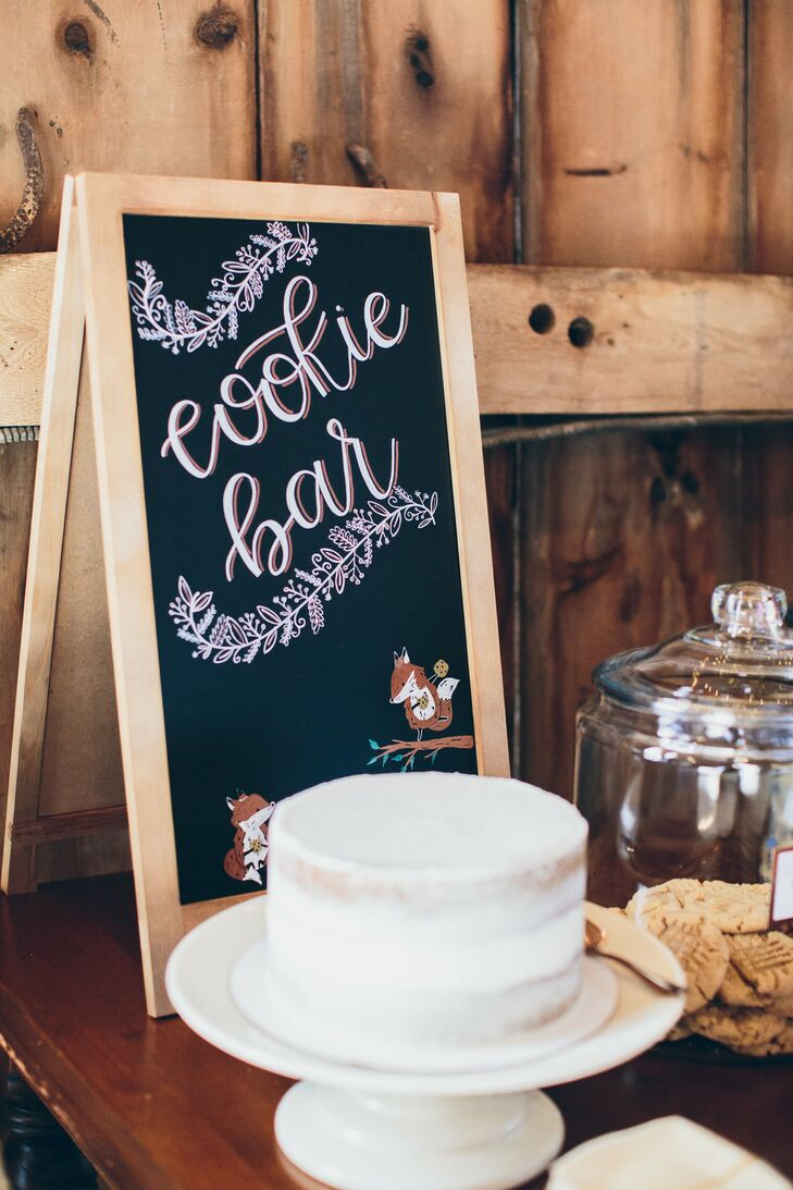 Rustic Chalkboard Sign at Cookie Bar Dessert Table