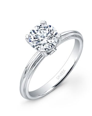 Uneek Fine Jewelry Unique Round Cut Engagement Ring