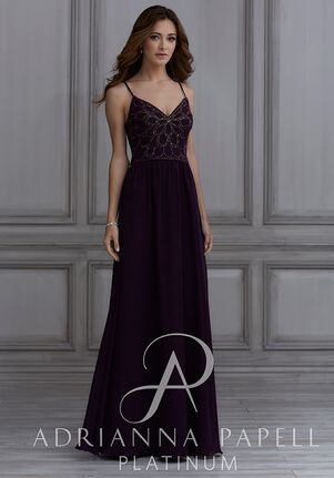Adrianna Papell Platinum 40133 Halter Bridesmaid Dress