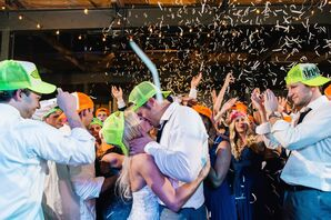 Wedding After-Party With Confetti Drop