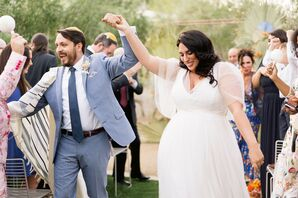 Recessional From Jewish Wedding at the Ace Hotel and Swim Club in Palm Springs