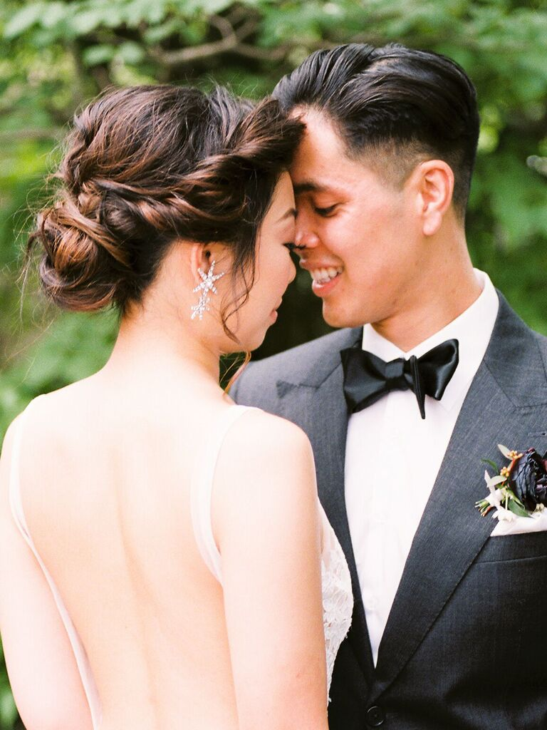 wedding updos rolled curls