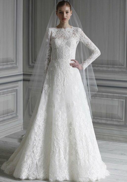 Monique Lhuillier Catherine A Line Wedding Dress