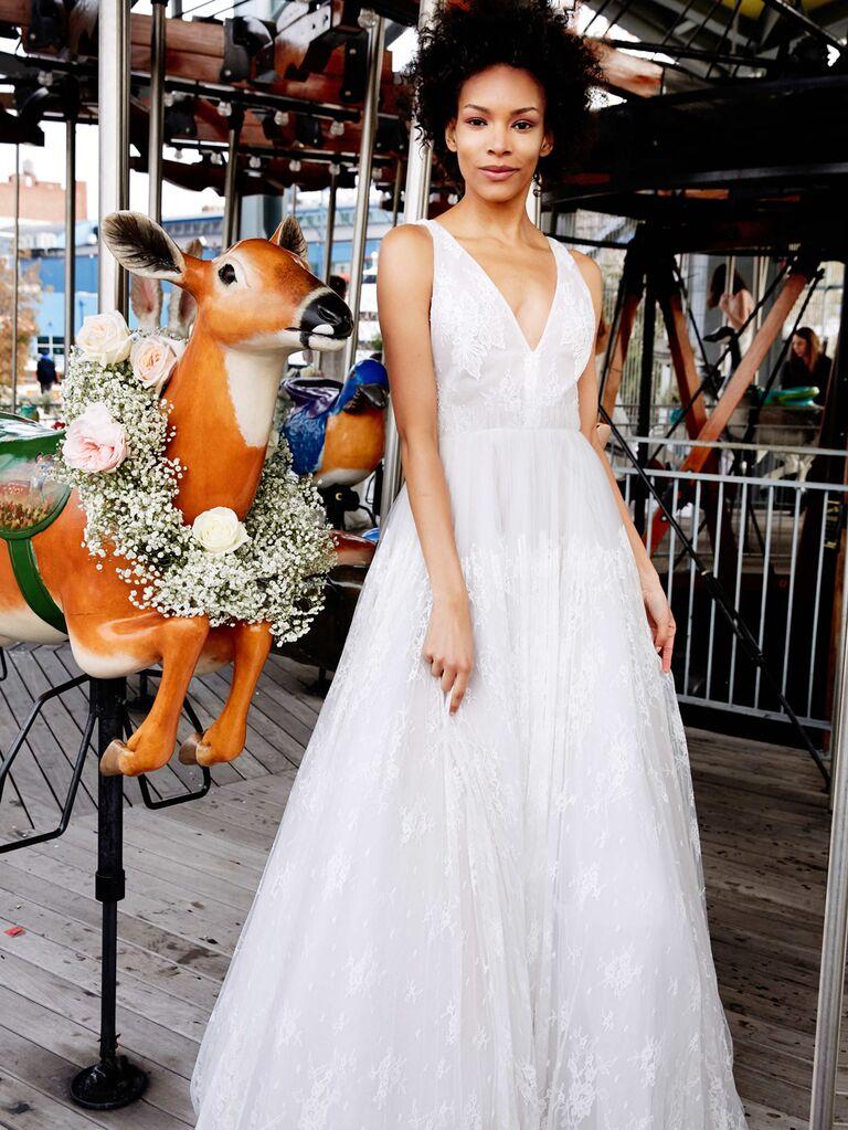Lela Rose Spring 2020 Bridal Collection A-line lace wedding dress