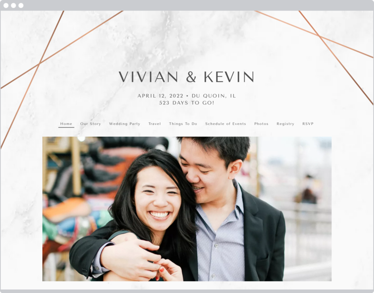 The Knot Wedding Website Examples
