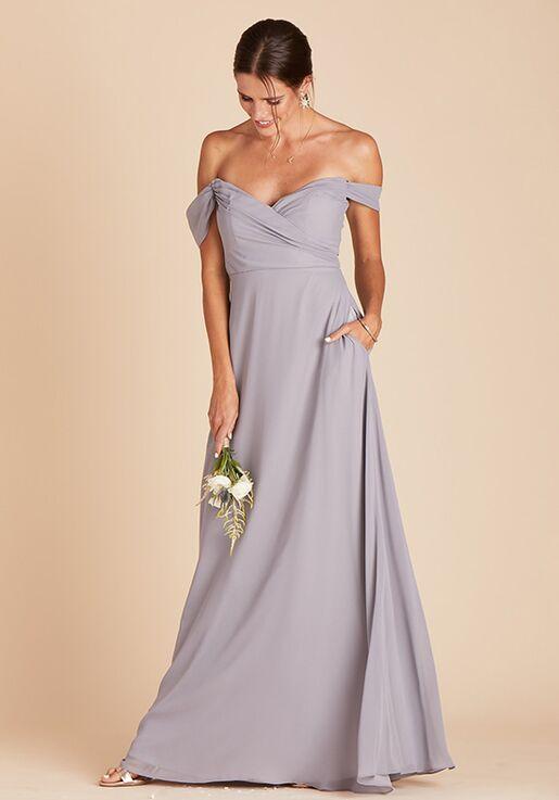 Birdy Grey Spence Convertible Dress in Silver V-Neck Bridesmaid Dress
