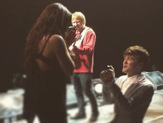 Little Mix singer Jesy Nelson got engaged to singer Jake Roche with the help of Ed Sheeran.