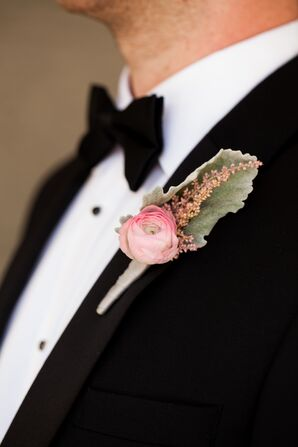 Formal Pink Ranunculus Boutonniere