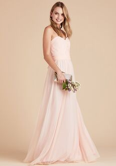 Birdy Grey Christina Convertible Dress in Blush Pink Strapless Bridesmaid Dress