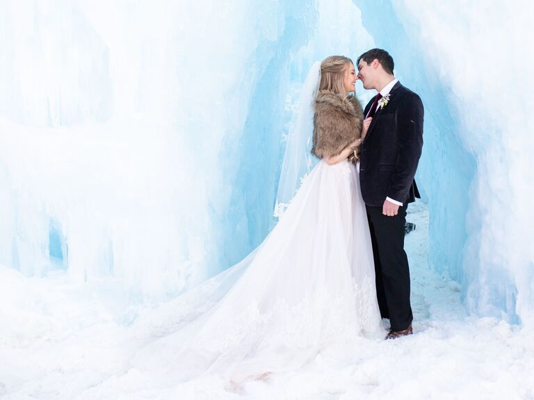winter wedding ideas ice castle venue