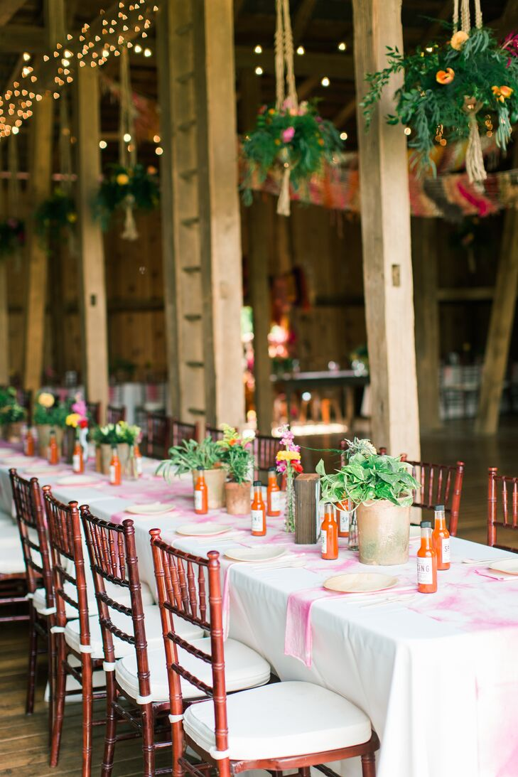Country Barn Reception with Chiavari Chairs