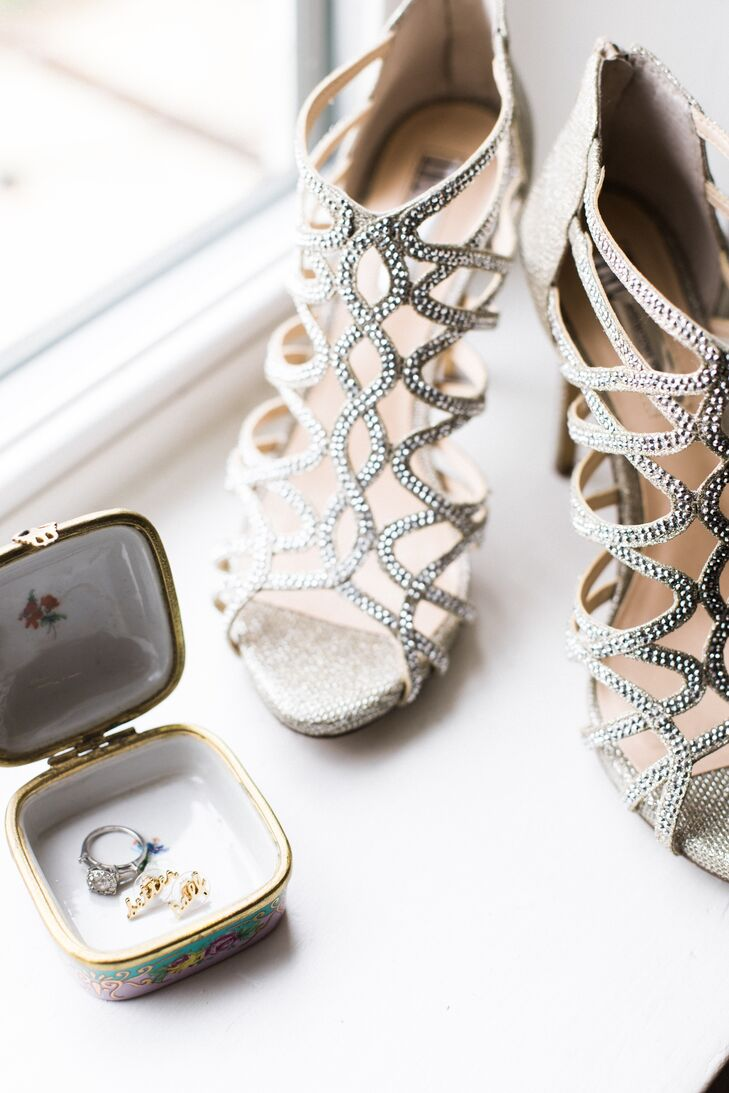 Glam Rhinestone-Studded Strappy Sandals