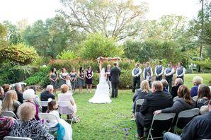 Britini and Dustin's Outdoor Alabama Wedding Ceremony