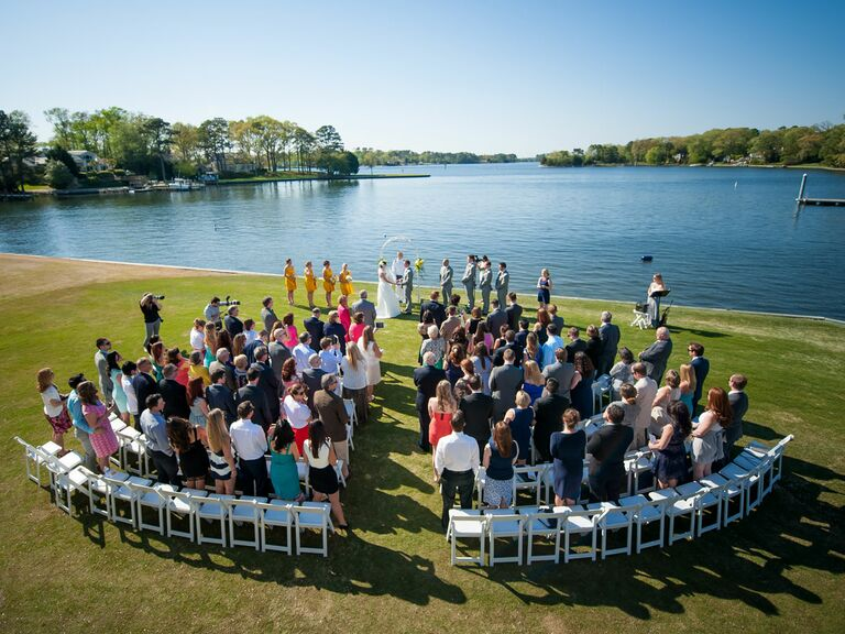 Drone Wedding Photography Aerial Ceremony Shot