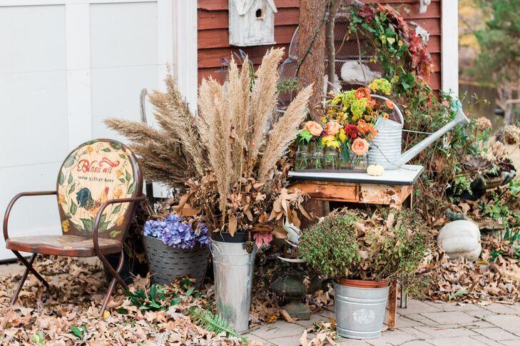 Rustic Fall Flower Arrangements
