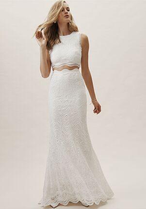 BHLDN Campbell Top & Campbell Skirt Sheath Wedding Dress