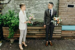 Brides in Fashionable Tuxedos