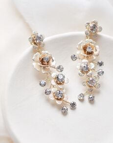 Dareth Colburn Francesca Floral Drop Earrings (JE-4165) Wedding Earring photo
