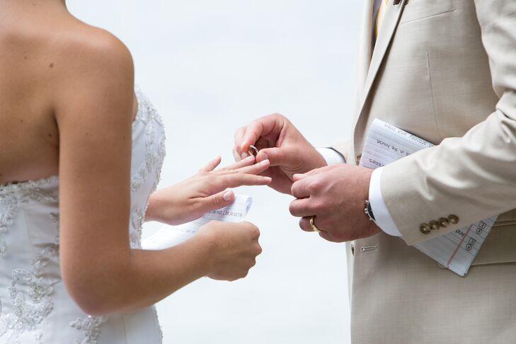 Casual Ceremony Ring Exchange