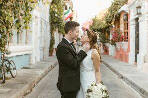 Bride and Groom in Cartagena, Colombia