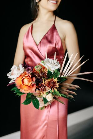 Bridesmaid Bouquet with Orange Flowers