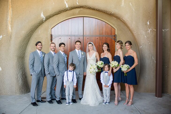 Navy Blue Wedding.Navy Blue And Gray Wedding Party
