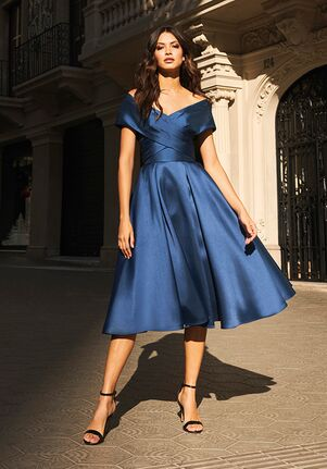 THE PARTY EDIT TD STYLE 138 Off the Shoulder Bridesmaid Dress
