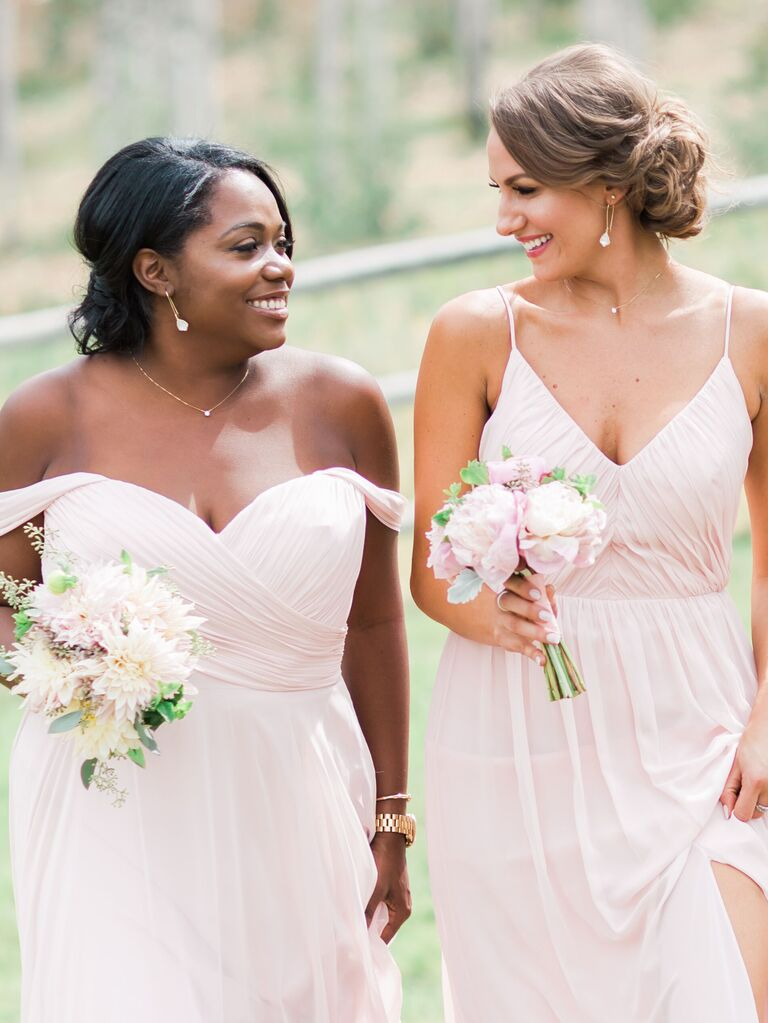 Bridesmaid updo low bun