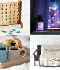 Collage of four 2nd anniversary gift ideas