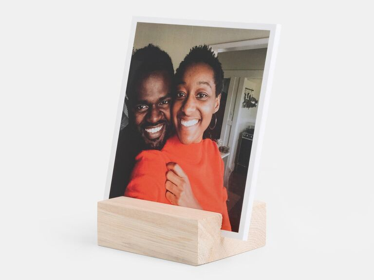 Wood photo block gift idea